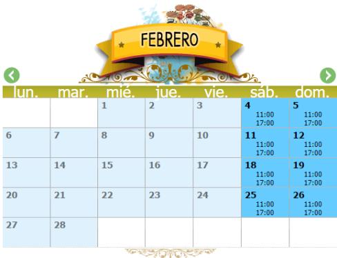 Horarios CAMÍ DEL CEL febrero 2017